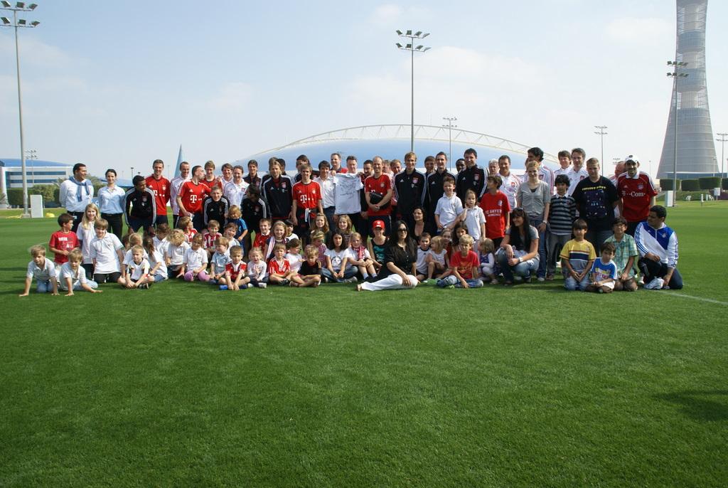 Die Deutsche Schule besuchte das Trainingslager des FC Bayern München