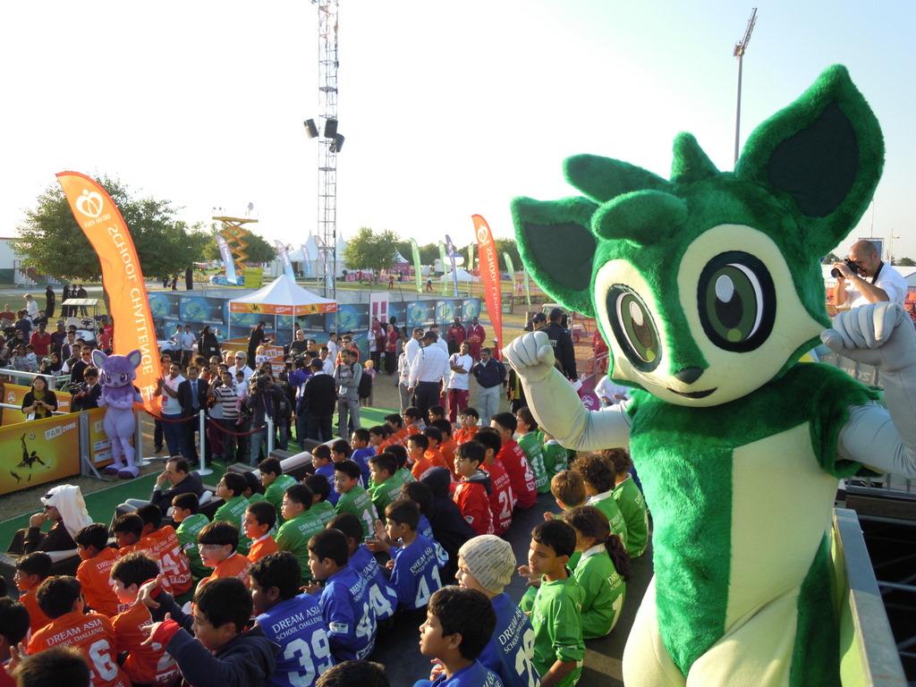 Die Deutsche Schule Doha bei der AFC Dream Asia Street Soccer School Challenge
