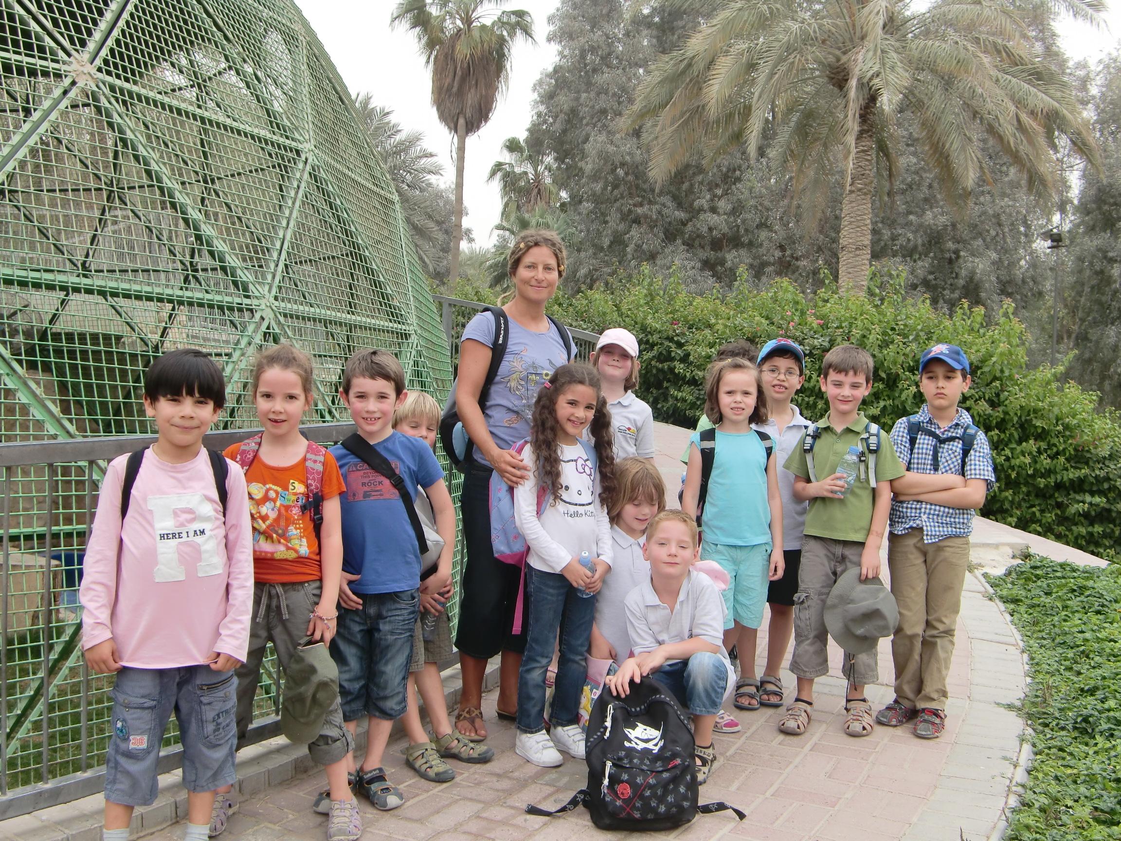 Die 1. Klasse besuchte den Zoo in Doha