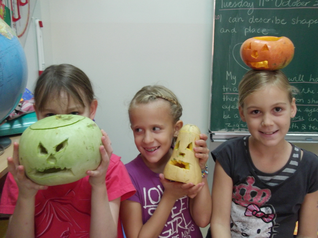 Scary Halloween pumkins at DS Doha