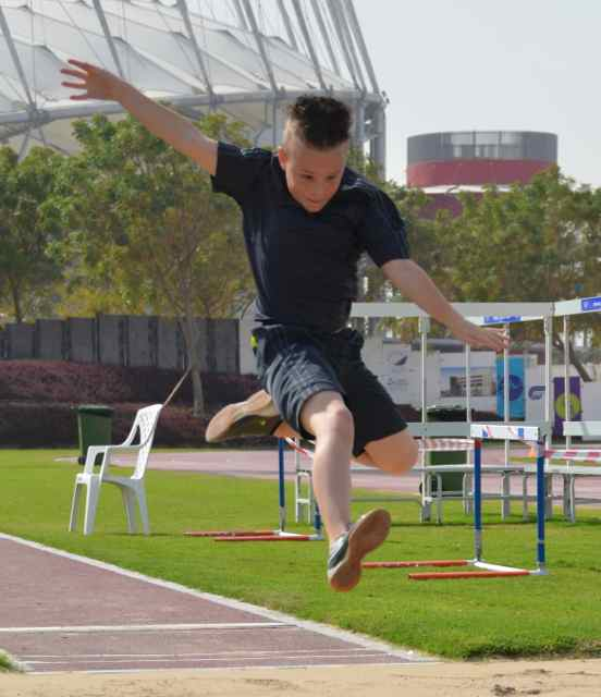 Bundesjugendspiele Leichtathletik der Deutschen Schule Doha im Aspirestadion