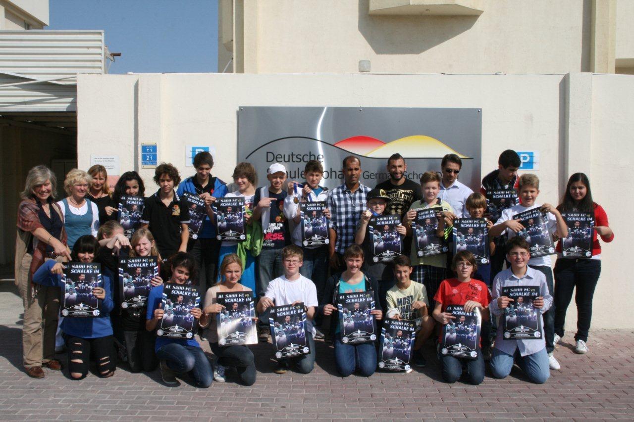 Al Sadd Spieler zu Besuch in der Deutschen Schule Doha