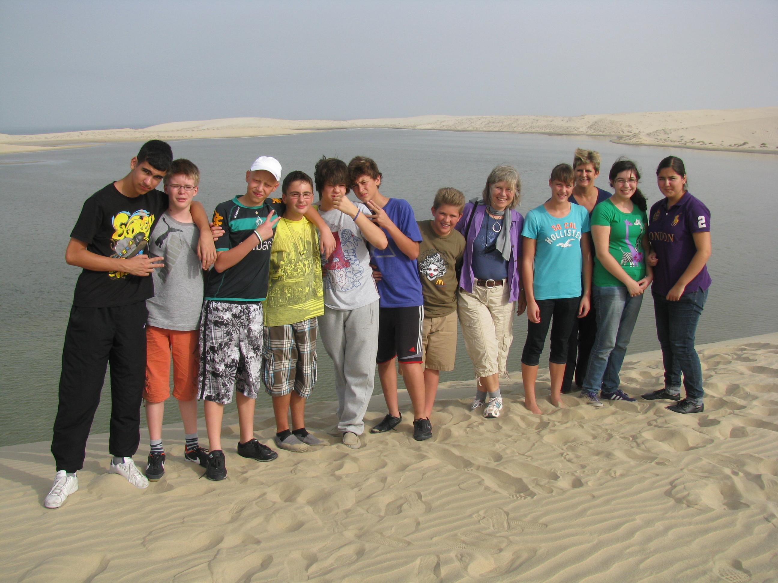 Die Klasse 8 auf Wüstentour
