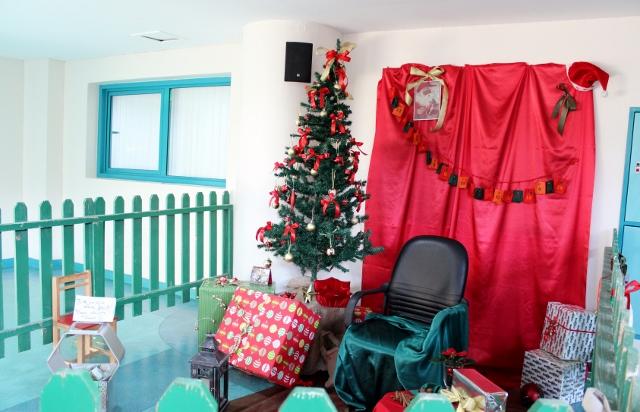 Hier sollte eigentlich der Weihnachtsmann sitzen.