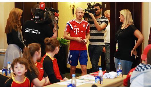 Fragestunde mit Arjen Robben vom FC Bayern