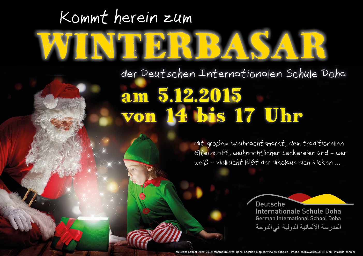 Kommt zum Winterbasar an der Schule!