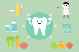 dental cartoon vector, set of teeth best friend