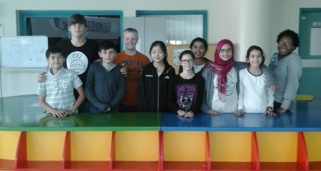 Schüler der Klasse 7, die das Snaggies-Team stellen.