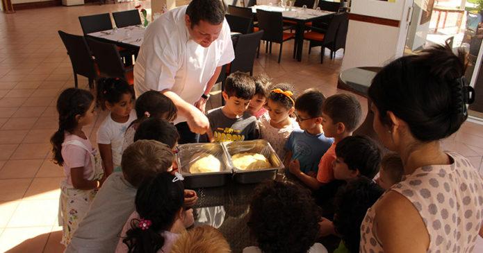 Kindergarten bei Chef Hannes