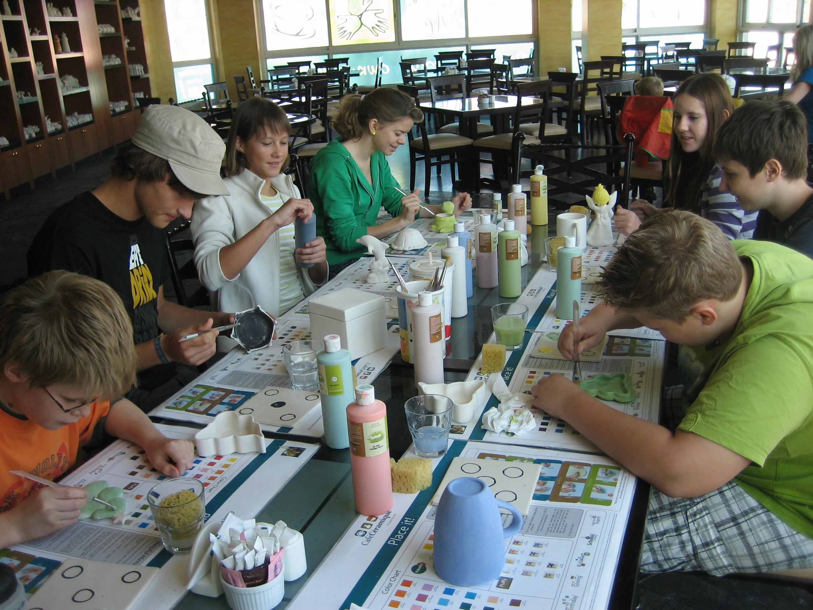 Die Klasse 7 und die ILS Klasse haben das Café Ceramique besucht