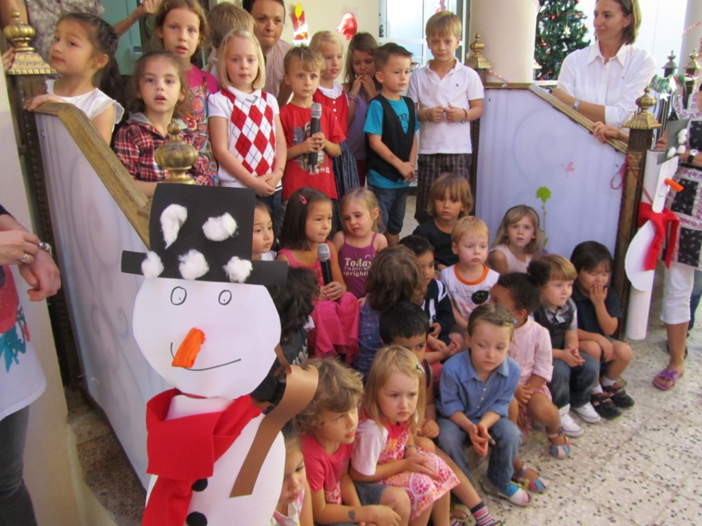 Christmas Party took place in the yard of the Kindergarten